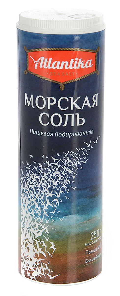 Atlantika соль морская пищевая мелкая йодированная, 250 г0120710Atlantika - это высококачественная морская йодированная соль мелкого помола. Входящие в состав морской соли калий, натрий способствуют ускорению процесса метаболизма в человеческом организме.Уважаемые клиенты! Обращаем ваше внимание, что полный перечень состава продукта представлен на дополнительном изображении.