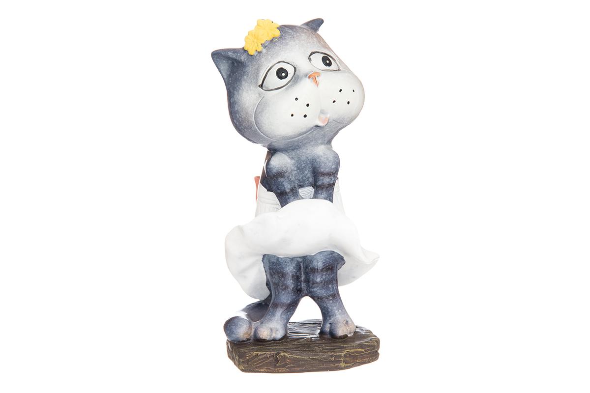Фигурка декоративная Elan Gallery Кошка-Мэрилин, высота 12,5 см12723Декоративные фигурки - это отличный способ разнообразить внутреннее убранство вашего дома. Декоративная фигурка с изображением кошки станет прекрасным сувениром, который вызовет улыбку и поднимет настроение.Фигурка выполнена из полистоуна.Размер статуэтки: 6 х 5,5 х 12,5 см.