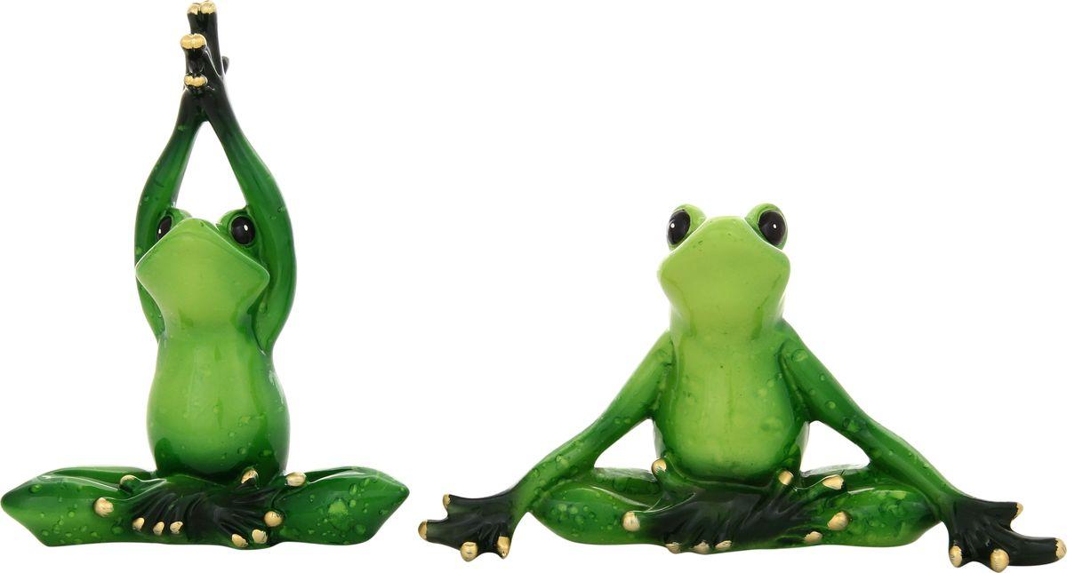 Фигурка декоративная Elan Gallery Лягушки йога, 15 х 12 см, 2 предметаFS-80299Декоративные фигурки - это отличный способ разнообразить внутреннее убранство вашего дома. Декоративная фигурка с изображением лягушки станет прекрасным сувениром, который вызовет улыбку и поднимет настроение.Фигурка выполнена из полистоуна.Комплектация 2 фигурки.