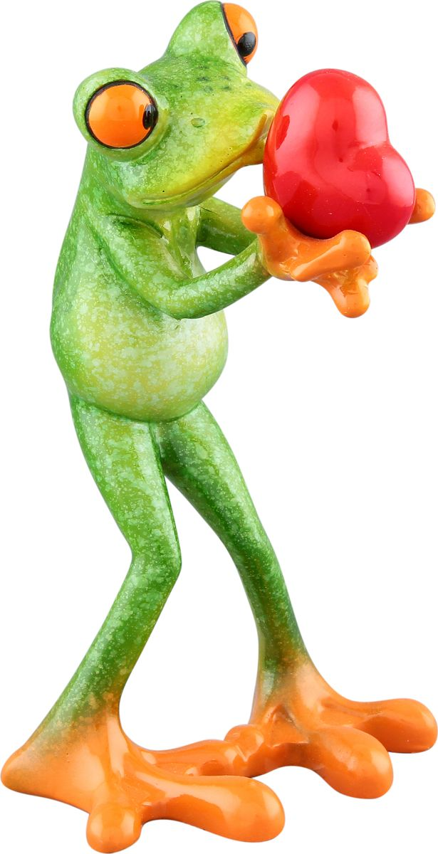 Фигурка декоративная Elan Gallery Лягушка с сердцем, 8,2 х 8 х 14 см74-0060Декоративные фигурки - это отличный способ разнообразить внутреннее убранство дома, частичка вашей индивидуальности в облике жилища!
