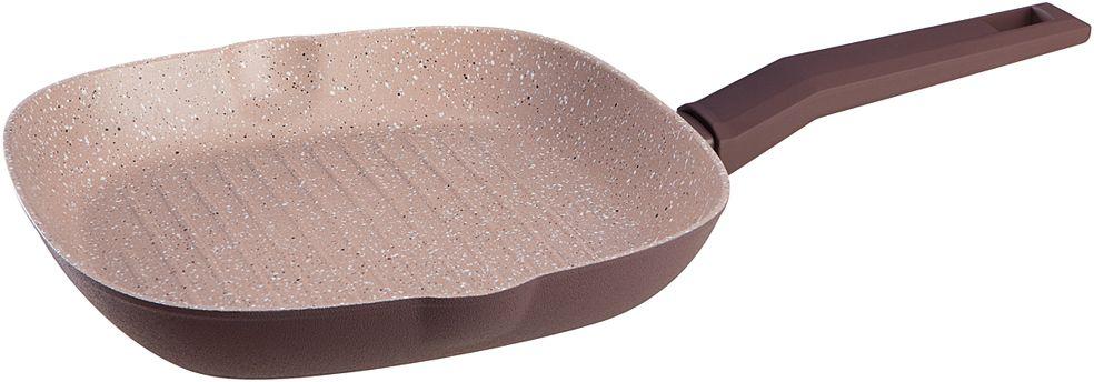 Сковорода-гриль Nadoba Tava, с антипригарным покрытием, 26 х 26 см94672Сковорода-гриль Nadoba Tava изготовлена из высококачественного алюминия с износостойким антипригарным покрытием. Такое покрытие предотвращает пригорание пищи и ее прилипание к стенкам. Оно абсолютно безопасно для здоровья и не выделяет вредных веществ во время готовки.Сковорода оснащена эргономичной ручкой с покрытием soft-touch, которая не нагревается в процессе приготовления пищи и не дает вашим рукам обжечься. Посуда подходит для всех плит, включая индукционные. Можно мыть в посудомоечной машине.