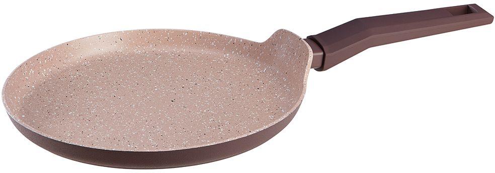Сковорода блинная Nadoba Tava, с антипригарным покрытием. Диаметр 26 см94672Корпус из кованого алюминия. Прочное 4-слойное антипригарное полностью безопасное покрытие PFLUON Cookmark без PFOA. Ненагревающаяся ручка Софт-тач.