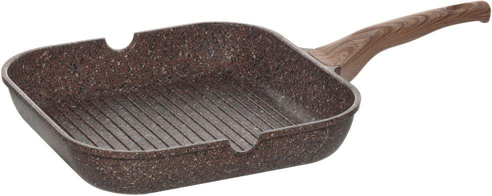 Сковорода-гриль Nadoba Greta, с антипригарным покрытием, 28 х 28 см94672Корпус из литого алюминия. Надежное 5-слойное антипригарное покрытие Pfluon на основе структуры гранита внутри и снаружи сковороды. Покрытие без PFOA, полностью безопасно. Допустимо использование металлических инструментов. Ненагревающаяся ручка Софт-тач.