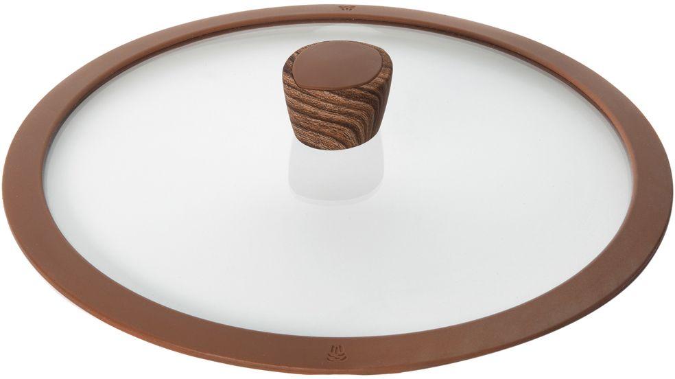 Крышка стеклянная Nadoba Greta, с силиконовым ободом. Диаметр 28 см391602Крышка Nadoba Greta, изготовленная из закаленного стекла, имеет силиконовый обод, благодаря чему идеально прилегает к посуде и обеспечивает равномерное распределение температуры внутри нее.Крышка имеет удобную ненагревающую ручку из пластика с силиконовым покрытием, предотвращающим выскальзывание из рук. По бокам изделие оснащено пароотводом. Такая крышка позволит следить за процессом приготовления пищи без потери тепла. Она плотно прилегает к краям посуды, сохраняя аромат блюд.