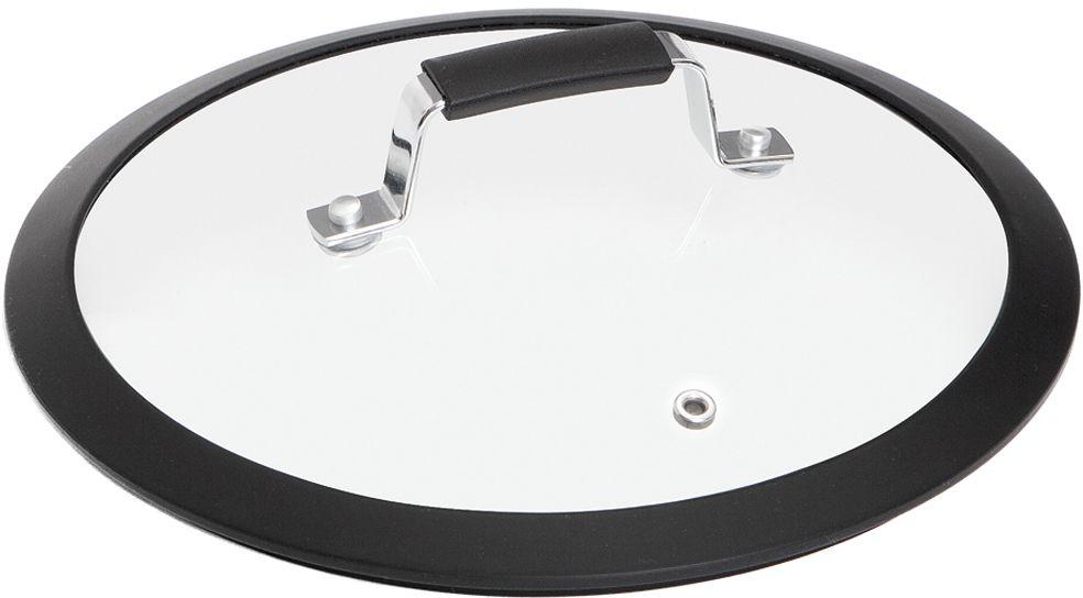 Крышка для посуды Nadoba Lota, с силиконовым ободом. Диаметр 24 см54 009312Силиконовый обод для плотного прилегания крышки. Удобная ручка из нержавеющей стали с силиконовым покрытием, предотвращающим выскальзывание. Прочное закаленное стекло.