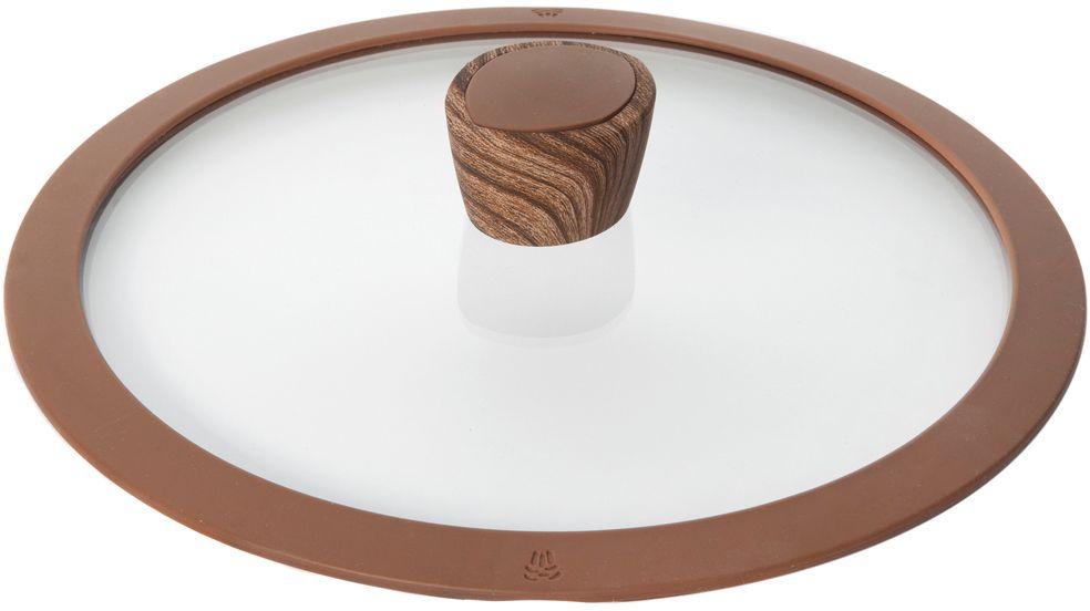 Крышка стеклянная Nadoba Greta, с силиконовым ободом. Диаметр 20 см115510Крышка Nadoba Greta, изготовленная из закаленного стекла, имеет силиконовый обод, благодаря чему идеально прилегает к посуде и обеспечивает равномерное распределение температуры внутри нее.Крышка имеет удобную ненагревающую ручку из пластика с силиконовым покрытием, предотвращающим выскальзывание из рук. По бокам изделие оснащено пароотводом. Такая крышка позволит следить за процессом приготовления пищи без потери тепла. Она плотно прилегает к краям посуды, сохраняя аромат блюд.