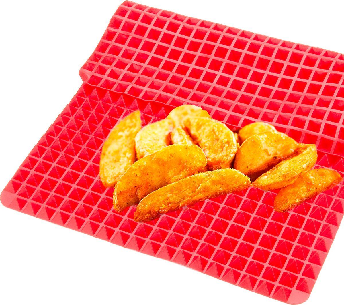Коврик для теста Mayer & Boch Сковорода-Пирамида391602Коврик Mayer & Boch выполнен из 100% силикона. Поверхность силиконового коврика состоит из 556 одинаковых по размеру пирамидок, что позволяет исключить возможность пригорания и позволяет воздуху проникать под готовящиеся продукты. Всегда кладите силиконовый коврик для выпечки только на чистый противень. Силиконовый коврик – лучшее антискользящее покрытие. Благодаря прекрасным термоустойчивым характеристикам коврика, его можно использовать в качестве практичной подставки под горячее, а также как коврик для свежих и замороженных продуктов.Силиконовые коврики идеально подходят для использования в микроволновых, газовых и электрических печах при температурах до +220°С. В случае заморозки до -40°С. Подходит для мытья в посудомоечной машине.