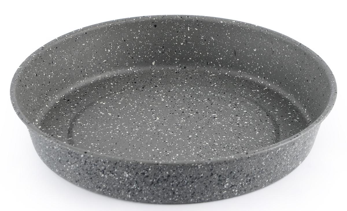 Форма для выпечки пирога Fissman, с антипригарным покрытием, круглая, диаметр 29 см54 009312Форма для выпечки Fissman изготовлена из углеродистой стали и обладает превосходными антипригарными свойствами. Не содержит в составе вредных веществ. Форма найдет свое применение для выпечки большинства кулинарных шедевров. Металлические стенки быстро распределяют тепло, и выпечка пропекается равномерно. Благодаря антипригарному покрытию из натуральной крошки на основе минеральных компонентов, готовый продукт легко вынимается, а чистка формы не составит большого труда. Подходит для духовки. Можно мыть в посудомоечной машине.