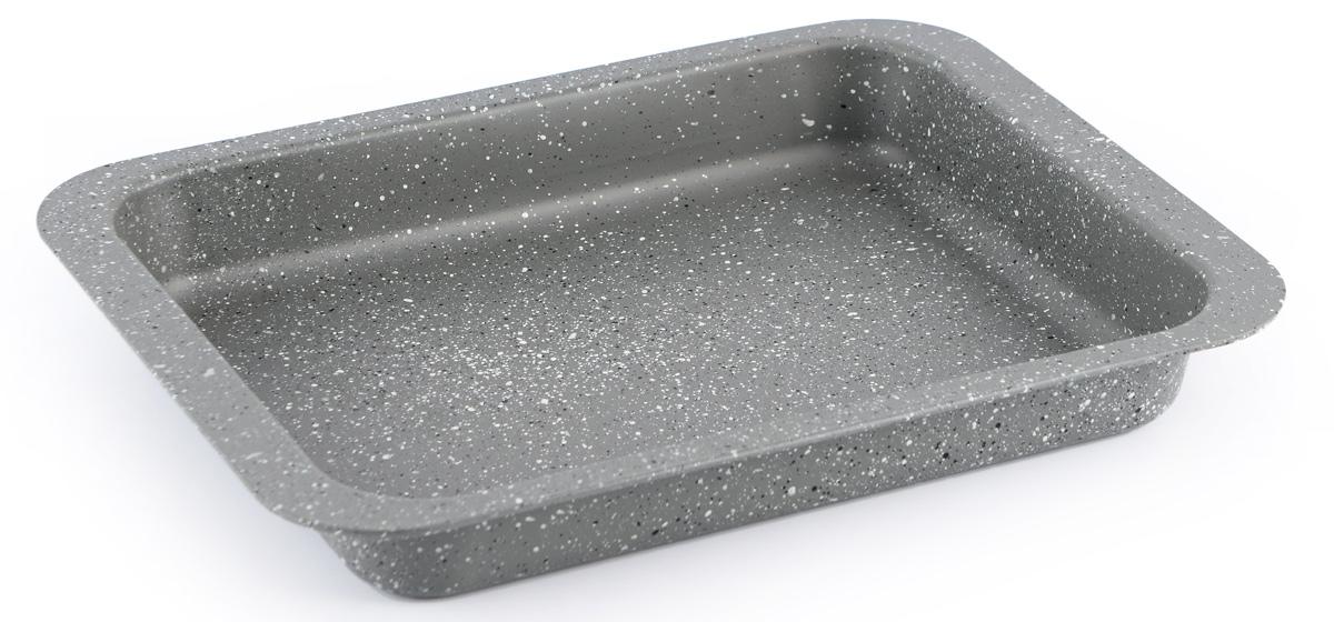 Форма для запекания Fissman, с антипригарным покрытием, 37 x 26,5 x 4,8 смFS-91909Форма для запекания Fissman изготовлена из углеродистой стали и обладает превосходными антипригарными свойствами. Не содержит в составе вредных веществ. Форма найдет свое применение для выпечки большинства кулинарных шедевров. Металлические стенки быстро распределяют тепло, и выпечка пропекается равномерно. Благодаря антипригарному покрытию из натуральной крошки на основе минеральных компонентов, готовый продукт легко вынимается, а чистка формы не составит большого труда. Подходит для духовки. Можно мыть в посудомоечной машине.