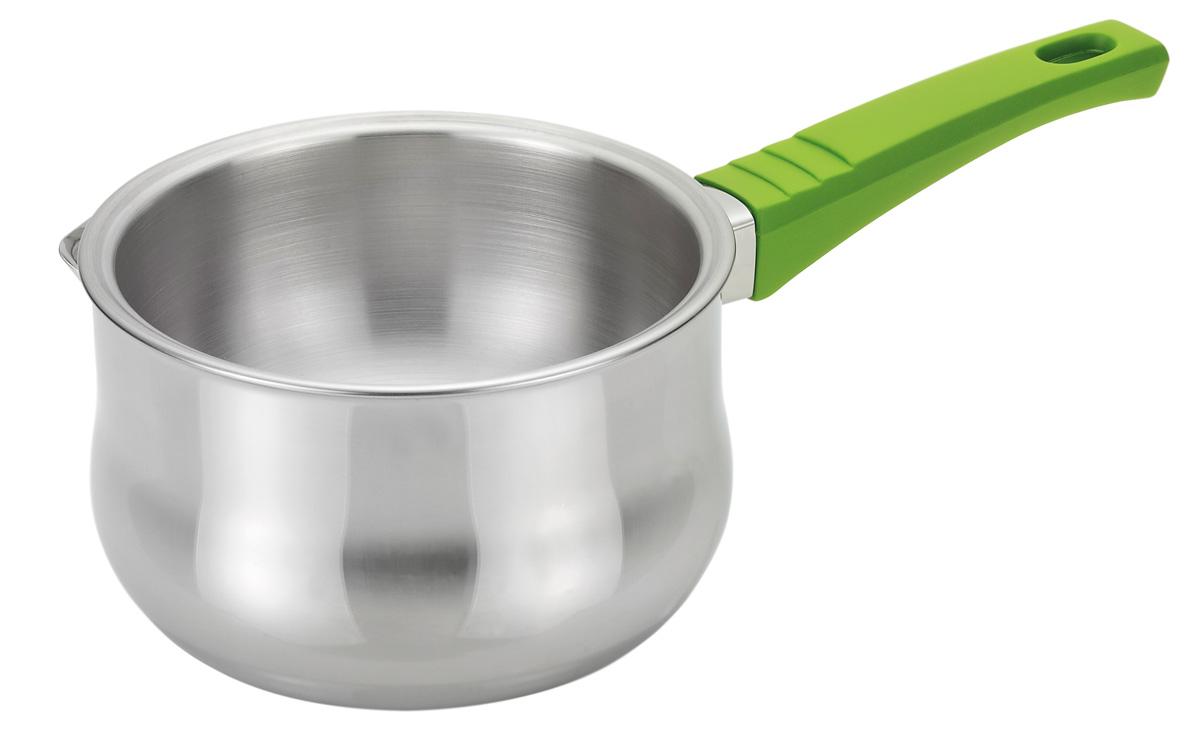 Ковш для создания водяной бани Fissman, 850 млFS-91909Ковш для создания водяной бани Fissman изготовлен из нержавеющей стали 18/10 высокого качества. Ковш имеет двойные стенки для создания водяной бани. Очень часто в рецептах встречается указание, что ингредиенты должны быть приготовлены на водяной бане. Таким способом удобно кипятить молоко и варить кашу, разогревать детское питание, растапливать шоколад и мед, готовить различные соусы, кремы, заварное тесто и даже заваривать настои из лечебных трав. Использование двух различных сосудов (первый - для воды, а второй - для продуктов) - довольно некомфортный процесс. Поэтому компания Fissman позаботилась о том, чтобы процесс готовки стал приятным и необременительным занятием. Через отверстие в полость между стенками заливается вода, во внутреннюю емкость кладется продукт, ковш ставится на плиту. В процессе кипения вода равномерно нагревает ингредиенты, а температура нагрева не превышает температуру кипения воды 100°С. При этом исключено пригорание продуктов и попадание кипящей воды в готовящееся блюдо. Для удобства использования ковш снабжен бакелитовой ручкой. Подходит для газовых, электрических, стеклокерамических плит.Длина ручки: 16 см.