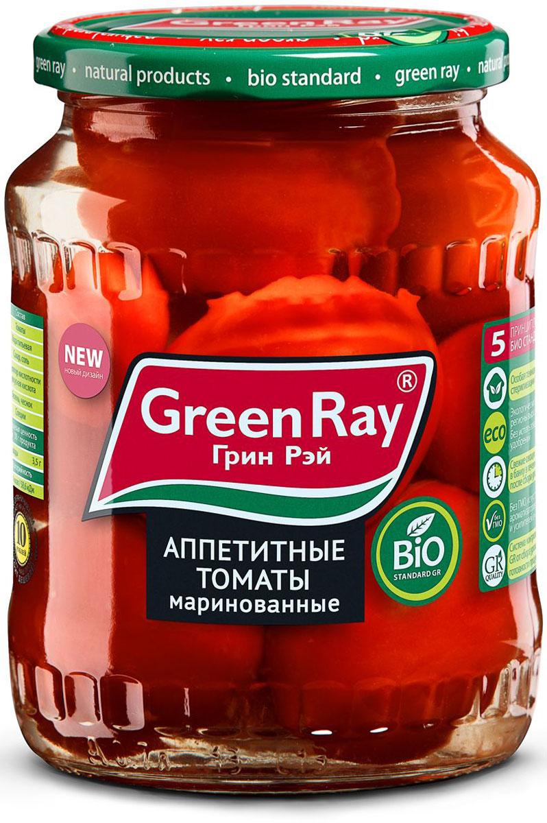 Green Ray томаты маринованные, 720 мл24Маринованные томаты Green Ray - это оригинальное кулинарное решение в будни и праздники. Продукт изготовлен из высококачественных ингредиентов, по современным технологиям.