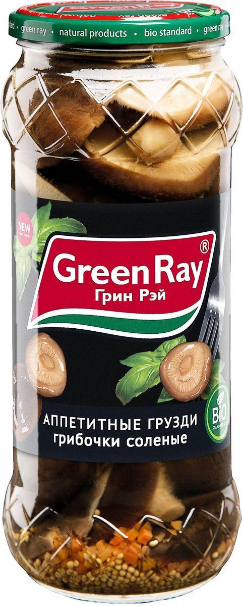 Green Ray грузди соленые, 580 мл626Грибы Green Ray богаты белками и минералами. После обработки в процессе соления или маринада полезные свойства практически не утрачиваются.