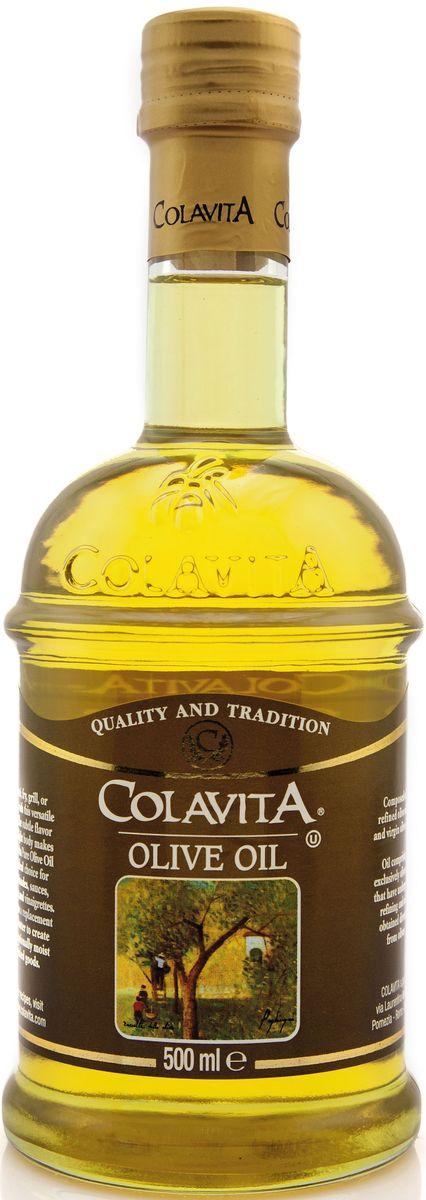 Colavita масло оливковое рафинированное, 500 мл8424536921301Рафинированное оливковое масло Colavita - это масло, полученное из лучших сортов итальянских оливок с добавлением нерафинированного масла первого холодного отжима.