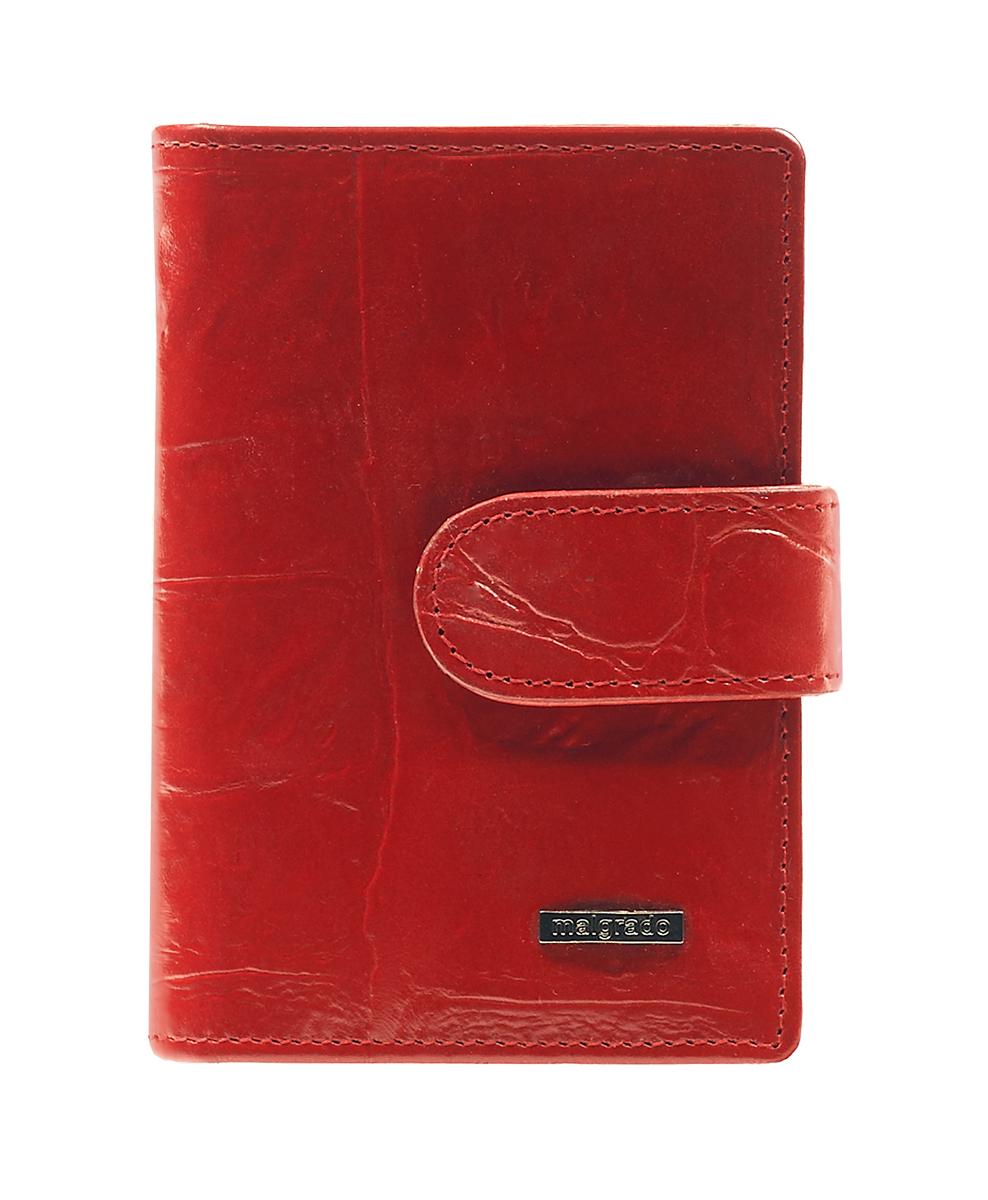 Визитница Malgrado, цвет: красный. 42003-29102A52_108Стильная визитница Malgrado с веерным открытием изготовлена из натуральной кожи с тиснением под рептилию. Внутри содержит прозрачный вкладыш с двадцатью отделениями для кредитных и дисконтных карт. На боковых стенках имеются два дополнительных отделения для пропуска и карт. Закрывается визитница на клапан, на одну из двух кнопок. Такая визитница станет замечательным подарком человеку, ценящему качественные и практичные вещи.