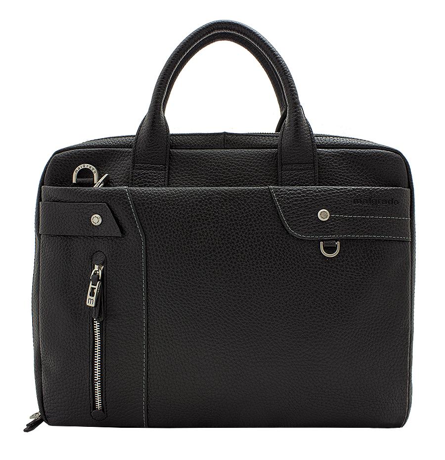Cумка мужская Malgrado, цвет: черный. BR09-725А3470M0213 02Мужская сумка для документов Malgrado выполнена из натуральной кожи. Сумка со съемным плечевым ремнем состоит из одного вместительного отделения, закрывающегося на застежку-молнию. На лицевой стороне сумки расположено отделение на молнии для планшета. На задней стенке - карман для бумаг на молнии.Внутри основного отделения - два отделения для бумаг (формата А4) с перегородкой, карман для мобильного телефона, два фиксатора для ручек, кармашек для мелочей и вшитый карман на молнии. Сумка оснащена двумя ручками для переноски. К сумке прилагается чехол для хранения. Сумка - это стильный аксессуар, который подчеркнет вашу изысканность и индивидуальность и сделает ваш образ завершенным.