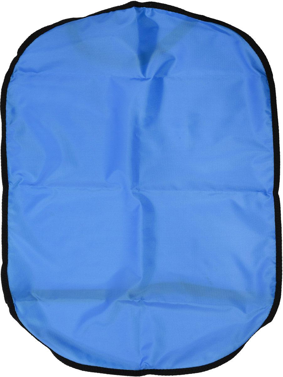 Накидка для спинки сиденья Главдор Защита от грязных ног, цвет: голубой, 61 х 45 см21395599Накидка Главдор Защита от грязных ног защищает спинку переднего сиденья автомобиля от возможных загрязнений ногами. Выполнена из прочного ПВХ. Подходит для любого автокресла, фиксируется при помощи эластичной ленты. Накидка позволяет экономить на генеральной уборке салона.Размер накидки: 61 х 45 см.