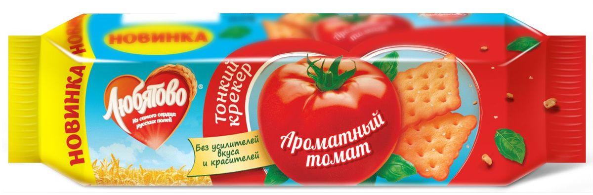 Любятово крекер Ароматный томат, 100 г0120710Тонкийкрекерсо вкусом ароматноготомата. Уникальное сочетание насыщенного яркого вкуса и тонкойтекстуры.