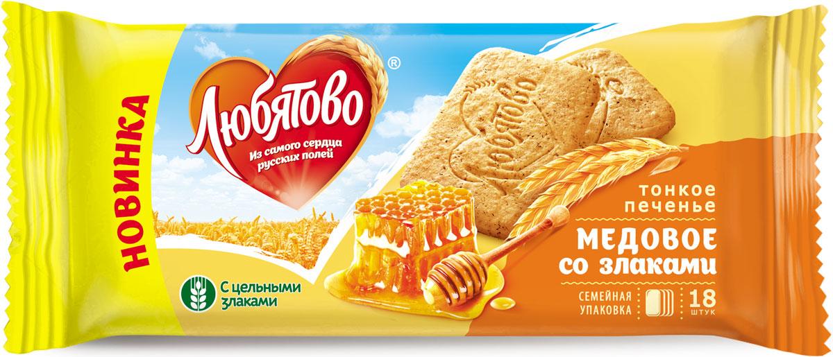 Любятово печенье сахарное Медовое со злаками, 171 г0120710У нас в Любятово вкус взлетел на новую высоту, потому что мы готовим по улучшенному рецепту.