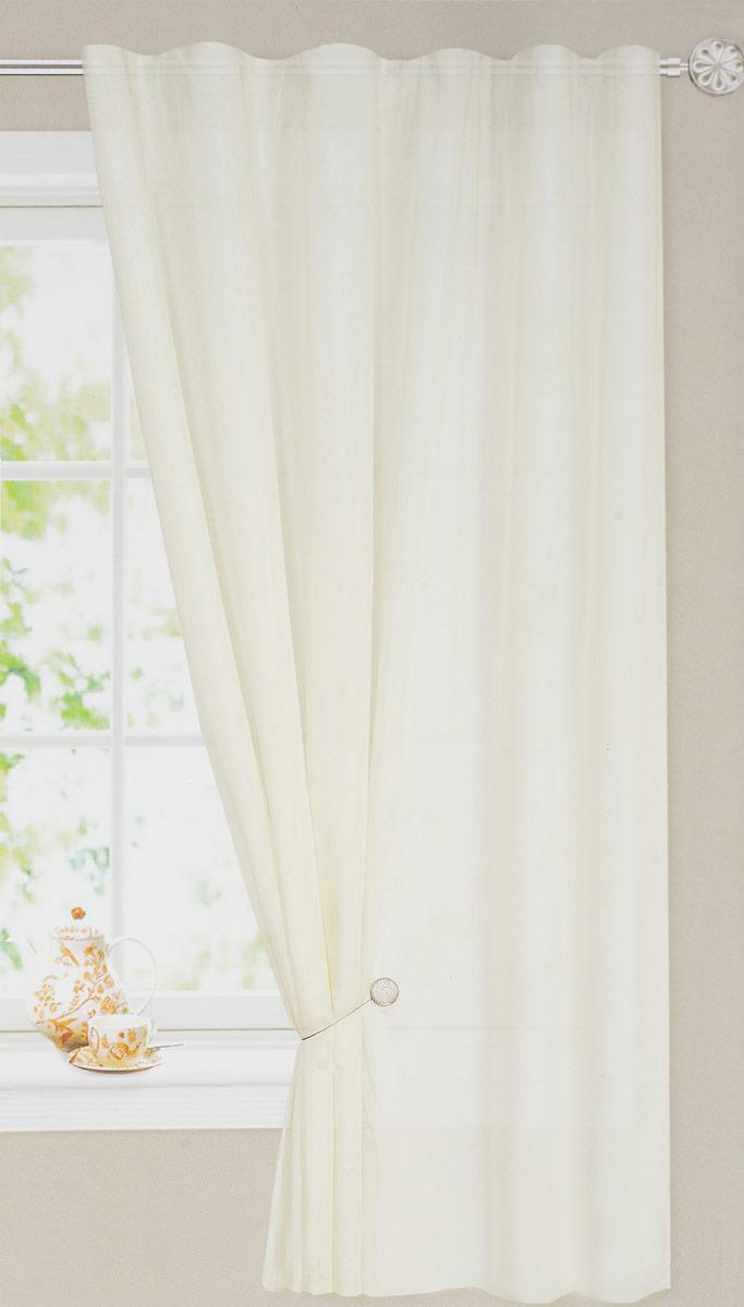 Штора готовая для гостиной Dr. Deco, на ленте, цвет: белый, размер 175 x 260 смс w191 v71002_белый