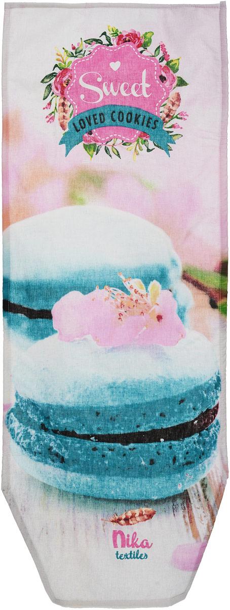 Чехол для гладильной доски Nika, универсальный, с поролоном, цвет: розовый, белый, голубой, 129 х 51 смGC204/30Чехол Nika, выполненный из бязи (100% хлопок) и поролона, продлит срок службы вашей гладильной доски. Чехол снабжен стягивающим шнуром, при помощи которого вы легко отрегулируете оптимальное натяжение и зафиксируете чехол на рабочей поверхности гладильной доски. Чехол оформлен красивым рисунком, что оживит внешний вид вашей гладильной доски. Размер чехла: 129 х 51 см. Максимальный размер доски: 125 х 42 см.