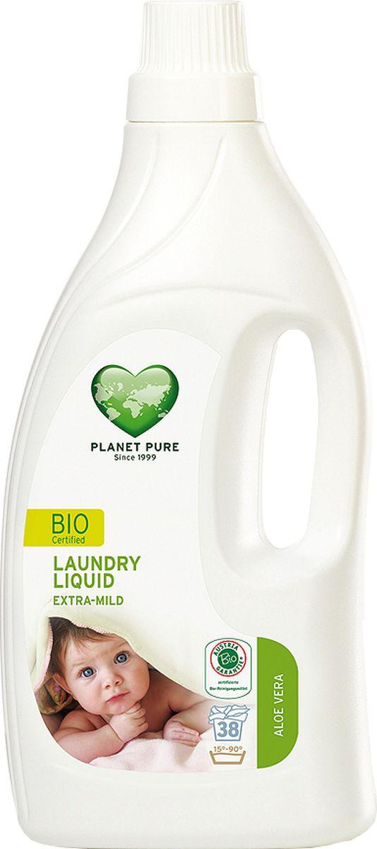 Planet Pure Средство для стирки Алоэ вера 1550 мл2146868BIO Средство для стирки детского белья экстра-мягкое Planet Pure АЛОЭ ВЕРА подарено нам самой природой. Мощные растительные экстракты-сапонины на основе мыльного ореха очищают ткани эффективно и мягко. Они не содержат вредных химических веществ и, таким образом, сохраняют ваше здоровье и окружающую среду. Особенности: Растительное происхождение; Проверено дерматологами; Без синтетических отдушек; Без энзимов; Без парабенов; Без ГМО; Без нефтепродуктов; Без отбеливающих реагентов; Без тестов на животных.Товар сертифицирован.