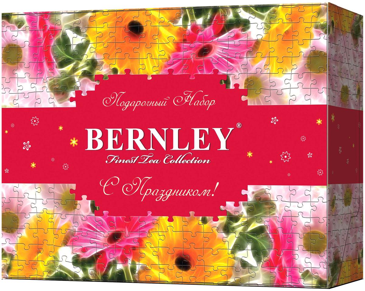 Bernley подарочный набор чая в пакетиках, 6 видов по 10 шт0120710Чайный набор Bernley состоит из 6 видов черного чая Bernley в метализированных конвертах - Инглиш Суприм, Инглиш Элегант, Эрл Грей, Инглиш Классик, Инглиш Брекфаст, Инглиш Премиум. Это прекрасный подарок к 8 марта!