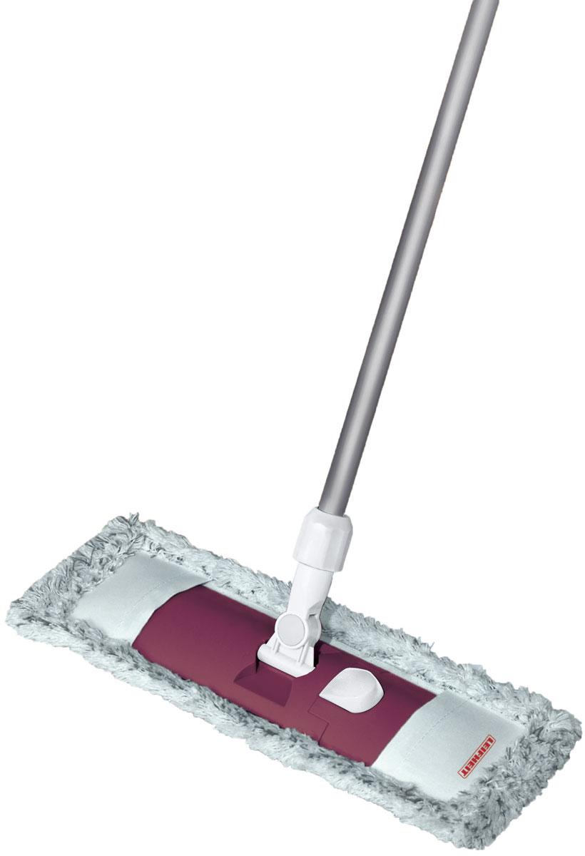 Швабра Leifheit Classic Limited Editon, с телескопической ручкой, цвет: бордовыйSVC-300Швабра для пола Classic. Ширина рабочей поверхности6 42 см. Встроенный зажим для использования тканевых салфеток. Телескопическая ручка 75-130 см. Насадка из микроволокна.