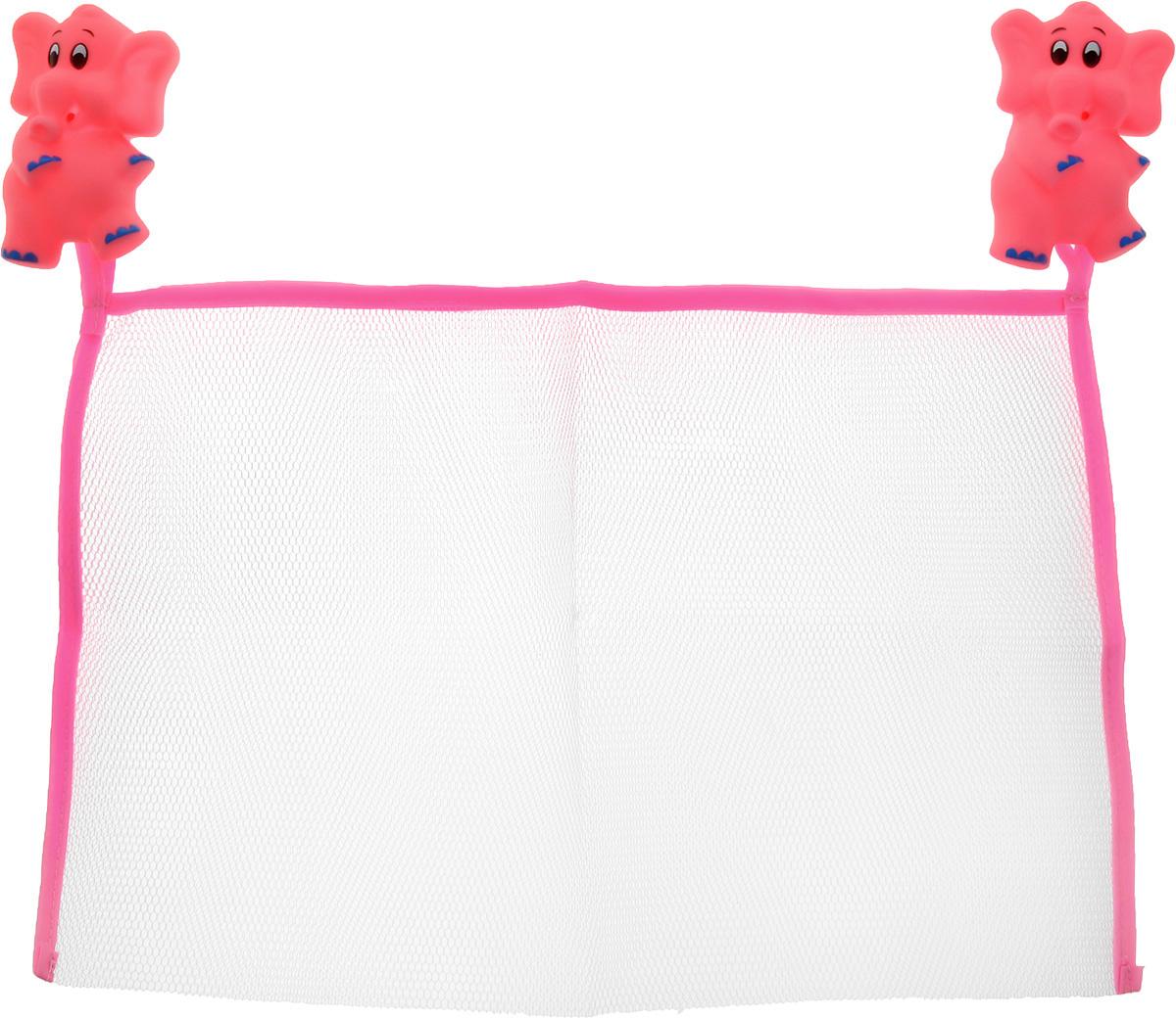 Valiant Сетка настенная на присосках для аксессуаров Слоники -  Контейнеры для игрушек, ковши