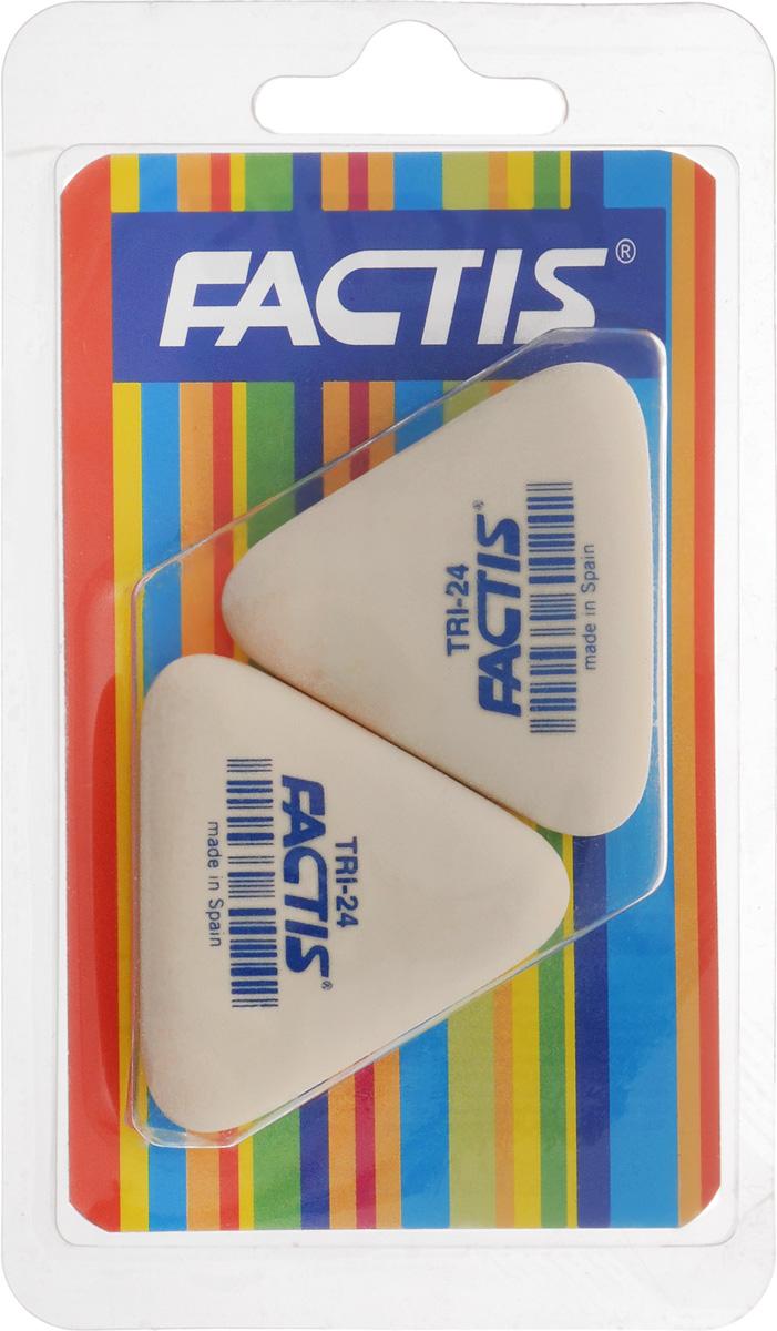Factis Набор ластиков 2 шт183100Набор ластиков из синтетического каучука Factis идеально подходит для применения как в школе, так и в офисе.Ластики обеспечивают высокое качество коррекции, не повреждают поверхность бумаги, даже при сильном трении не оставляют следов.Абсолютно безопасны, не токсичны.В упаковке 2 ластика.