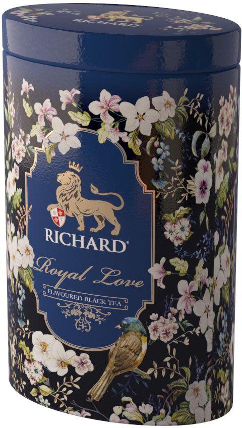 Чай Richard Royal Love черный крупнолистовой чай с добавками, 80 гN069Искреннее королевское признание в любви и ароматный бленд черного чая с нотами бергамота и ванили - идеальный подарок на каждый день