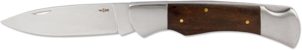 Нож складной Ножемир Четкий расклад, нержавеющая сталь, общая длина 22,7 см. C-105CR/1060Классический складной нож Ножемир Четкий расклад подойдет для продолжительных походов на природу, либо как дублирующий нож для основного. Лезвие выполнено из нержавеющей стали. Рукоять изготовлена из стабилизированного дерева. Фиксатор предотвращает нежелательно сложение изделия. Небольшие размеры в сложенном виде обеспечивают легкую транспортировку ножа.Общая длина ножа: 22,7 см.Твердость стали: 55-56 HRC.
