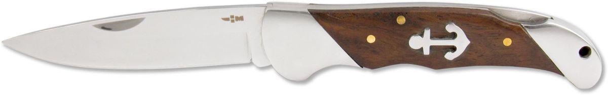 Нож складной Ножемир Четкий расклад, нержавеющая сталь, общая длина 19,3 см. C-172OF/FKU-AMI-CP BLКлассический складной нож Ножемир Четкий расклад подойдет для продолжительных походов на природу, либо как дублирующий нож для основного. Лезвие с зеркальной полировкой выполнено из нержавеющей стали. Рукоять изготовлена из стабилизированного дерева. Фиксатор Back Lock предотвращает нежелательно сложение изделия. Небольшие размеры в сложенном виде обеспечивают легкую транспортировку ножа.Общая длина ножа: 19,3 см.Твердость стали: 55-56 HRC.