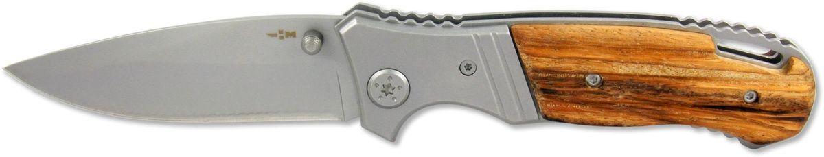 Нож складной Ножемир Четкий расклад, нержавеющая сталь, общая длина 19,7 см. C-174U/6141RКлассический складной нож Ножемир Четкий расклад подойдет для продолжительных походов на природу, либо как дублирующий нож для основного. Лезвие антиблик выполнено из нержавеющей стали. Рукоять изготовлена из стабилизированного дерева. Фиксатор Liner Lockпредотвращает нежелательно сложение изделия. Небольшие размеры в сложенном виде обеспечивают легкую транспортировку ножа. Клипса позволяет носить нож на ремне.Общая длина ножа: 19,7 см.Твердость стали: 55-56 HRC.