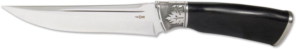 Нож туристический Ножемир, нержавеющая сталь, с ножнами, общая длина 27 см. H-12667742Туристический нож Ножемир - это настоящий подарок для опытных туристов, охотников и рыбаков. Он гораздо надежнее и долговечнее складного, а также имеет оптимальную толщину клинка. При длине лезвия 14,4 см он станет незаменим при разделке крупной дичи, работе в условиях дикой природы и в непредсказуемых ситуациях.Нож приспособлен для работы в разных климатических зонах, не гнется и не деформируется. Рукоятка ножа имеет стальную основу и верх, выполненный из дерева. В комплект входят ножны, изготовленные из текстиля.Общая длина ножа: 27 см.Твердость стали: 55-56 HRC.