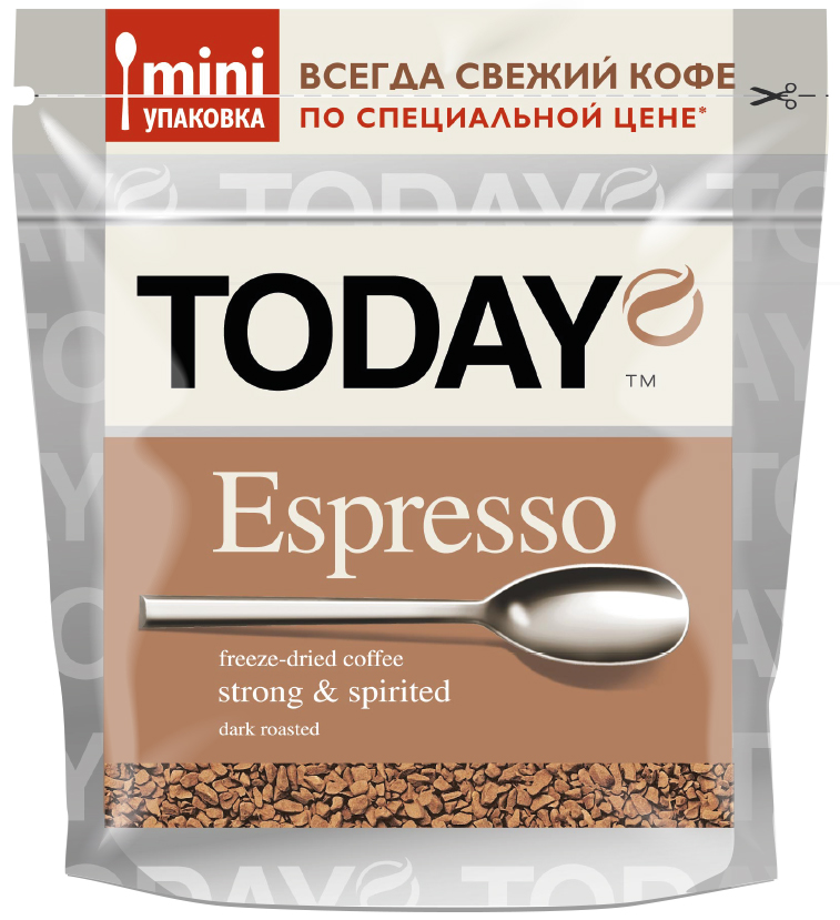 Today Espresso кофе растворимый, 37,5 г