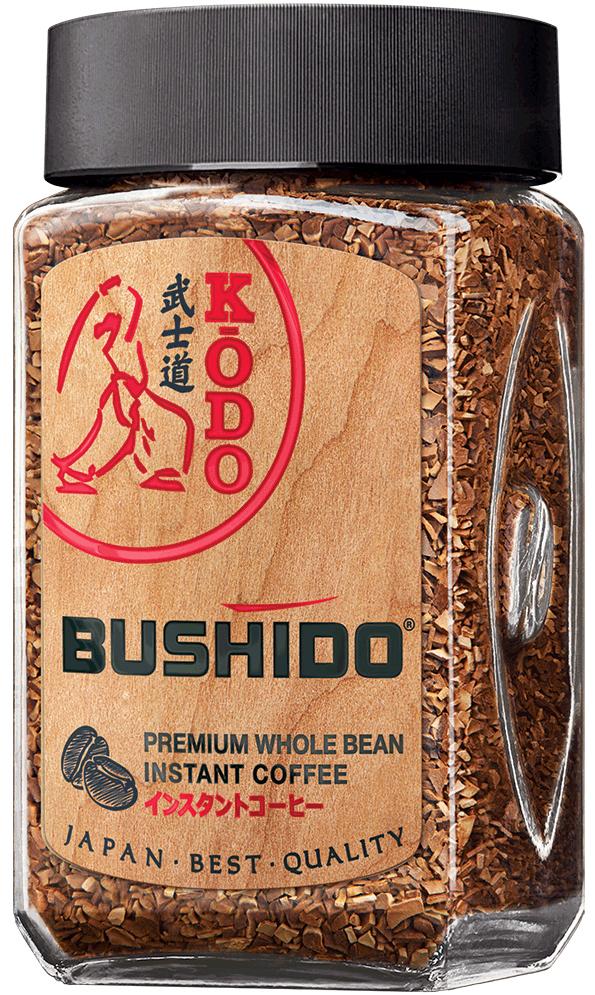 Bushido Kodo кофе растворимый, 95 г0120710Только в Японии существует как искусство оценка тонких ароматов, искусство KODO, искусство составления ароматов. Исключительное отношение к ароматам, отношение по законам красоты, насчитывает в Японии тысячелетия. KODO — один из краеугольных камней духовной культуры Японии. Наряду с чайной церемонией (сада) и искусством аранжировки цветов (икэбана) KODO (буквально путь аромата) стало одной из формой общения - этикой слушания ароматов, возведенной в ранг высокого искусства. Японские аристократы месяцами осваивали секреты смешения ароматических веществ для участия в специальных состязаниях на вечерах при императорском дворе.В KODO используется язык ароматов. Это элитарное искусство открывает еще один путь для расслабления, внутреннее созерцание мира, концентрации мыслей на прекрасное. Стремясь достичь вершины совершенства вкуса и аромата, мы создали этот купаж из отборных зерен из Эфиопии и Южной Америки. Так мы получили кофе, который не только тонизирует и бодрит, но и дарит Вам теплую радость каждый день. Японцы считают, что аромат помогает очищать духовно и физически.KODO - элитарное искусство, секрет которого дано постичь лишь избранным.