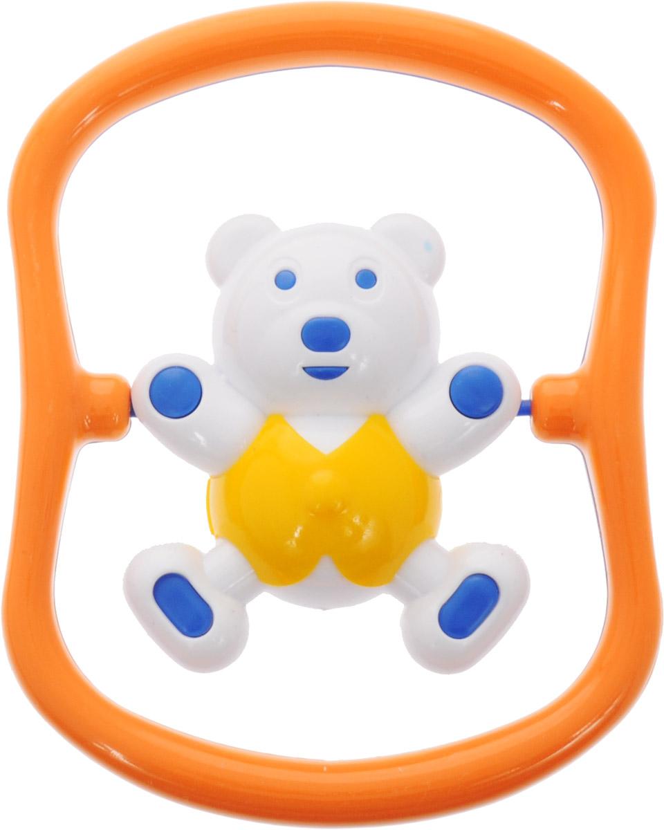 Аэлита Погремушка Мишка-баюн цвет синий оранжевый желтый