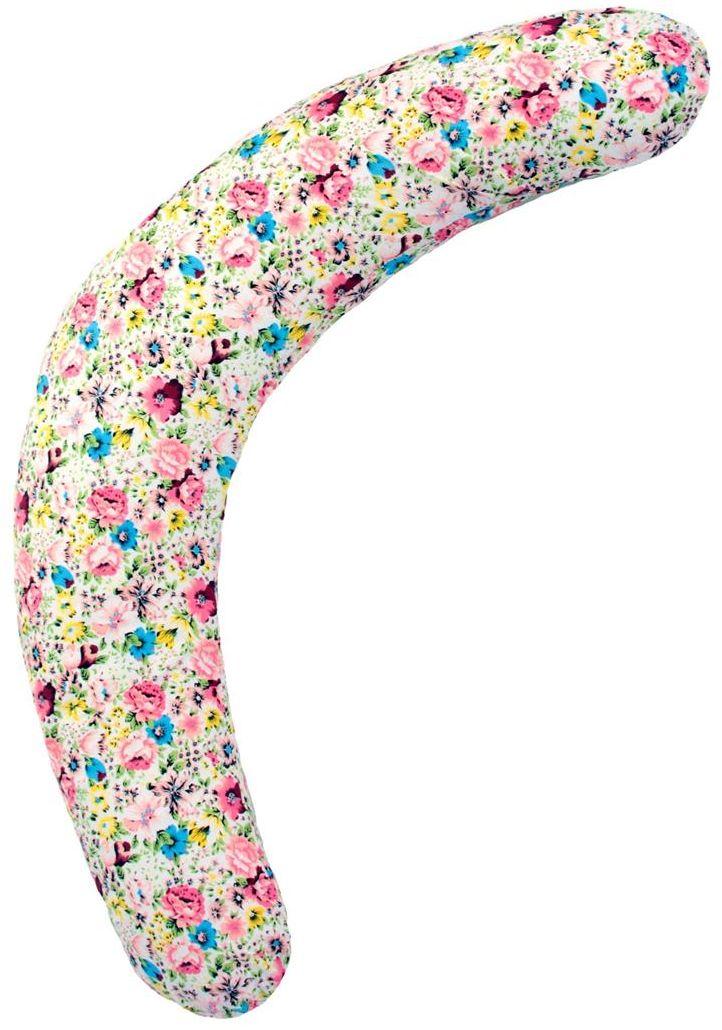 Mammy Size Подушка для беременных Полумесяц цвет белый цветы 180 см7501752176Подушка для беременных полумесяцс-образная, 180 см. Позволяет будущей маме принимать максимально удобные позы во время сна. Благодаря компактности её можно брать с собой в путешествие или просто использовать в машине. А за счет гипоаллергенного наполнителя из микроскопических полистироловых шариков, подушкаколбасаидеально повторяет контуры тела и снимает напряжение в области поясницы и шеи. В будущем она поможет Вам удобно расположиться при кормлении малыша. Удобный чехол из шелковистого хлопка на скрытой молнии легко снимается для стирки. При желании дополнительно можно приобрести чехол другой расцветки.