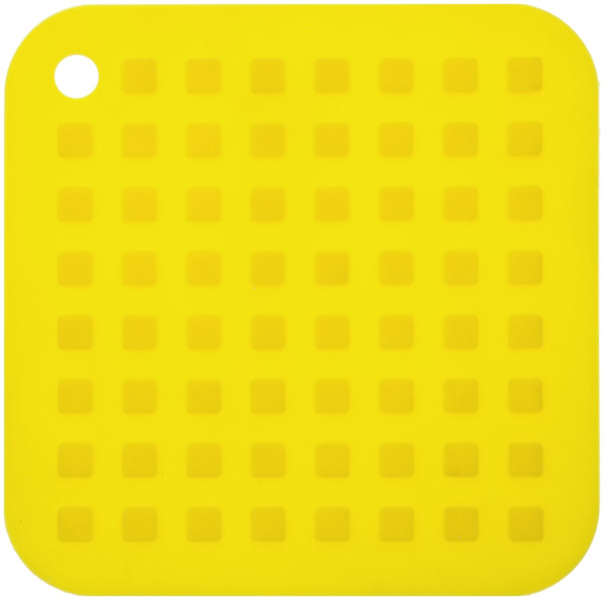 Подставка под горячее Mayer & Boch, силиконовая, цвет: желтый, 16 х 16 см20058_желтыйПодставка под горячее Mayer & Boch изготовлена из силикона и оформлена рельефом в виде квадратов. Материал позволяет выдерживать высокие температуры и не скользит по поверхности стола.Каждая хозяйка знает, что подставка под горячее - это незаменимый и очень полезный аксессуар на каждойкухне. Ваш стол будет не только украшен яркой и оригинальной подставкой, но и сбережен от воздействия высоких температур.