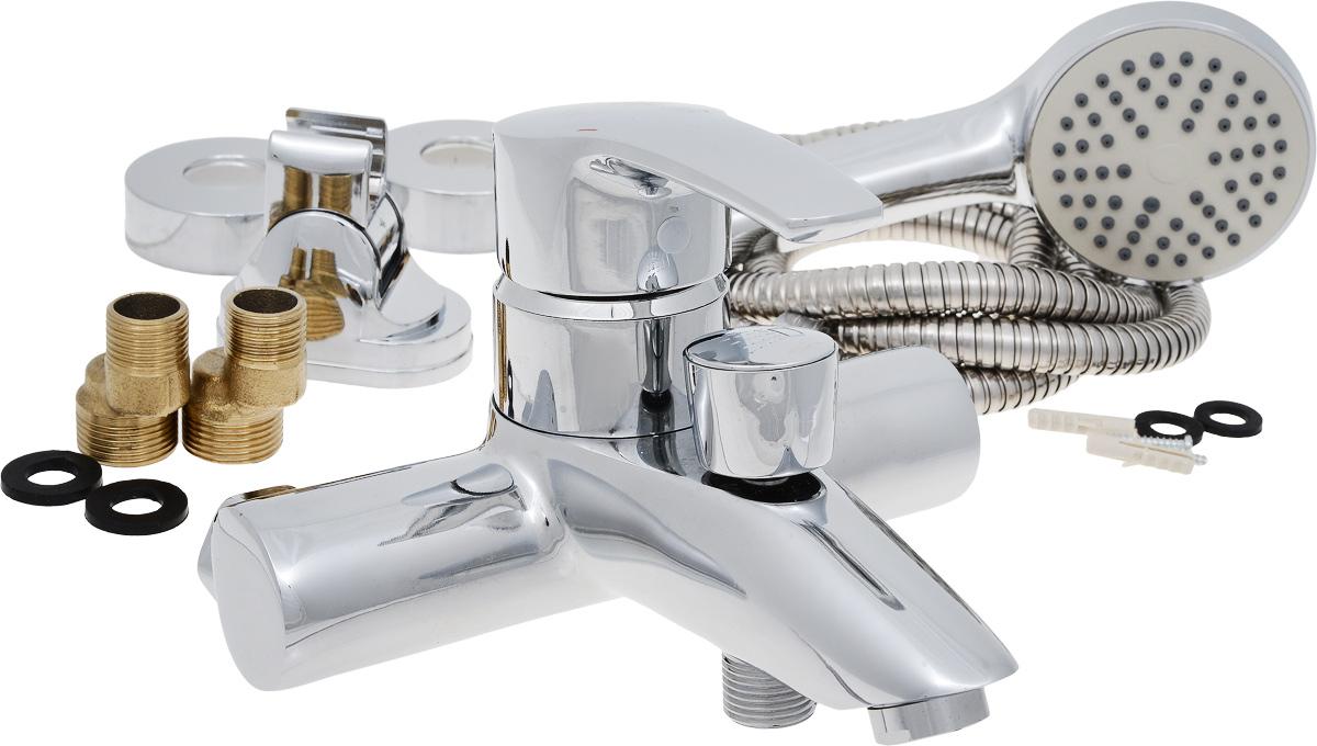 Смеситель для ванны РМС, с коротким литым изливом, цвет: хром. SL45-00968/5/3Смеситель для ванны РМС выполнен из высококачественной латуни с хромированным покрытием. Предназначен для смешивания холодной и горячей воды, устанавливается в ванну. Смеситель имеет штоковый переключатель воды ванна/душ, короткийизлив и пластиковый аэратор. Длина шланга для душа: 1,5 м. Размер лейки для душа: 21 х 8 х 4,5 см.Размер смесителя: 19 х 17 х 13 см.Максимальное давление: 10 бар.Испытательное давление: 16 бар.Рекомендуемое давление: 1-5 бар, при давлении выше 6 бар рекомендуется использовать регулятор давления.Максимально допустимая температура: +80°С.Рекомендуемая температура: +65°С.Размер присоединения к угловому вентилю для умывальника: гайка 1/2.Кран-букса керамическая: 1/2.Размер картриджа: 40 мм.
