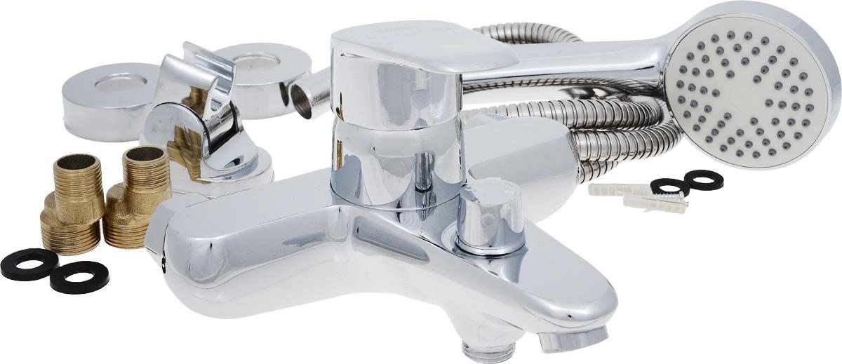 Смеситель для ванны РМС, с коротким литым изливом, цвет: хром. SL46-009BL505Смеситель для ванны РМС выполнен из высококачественной латуни с хромированным покрытием. Предназначен для смешивания холодной и горячей воды, устанавливается в ванну. Смеситель имеет евро-переключатель воды ванна/душ, короткийизлив и пластиковый аэратор. Длина шланга для душа: 1,5 м. Размер лейки для душа: 21 х 8 х 4,5 см.Размер смесителя: 19,5 х 17 х 12,5 см.Максимальное давление: 10 бар.Испытательное давление: 16 бар.Рекомендуемое давление: 1-5 бар, при давлении выше 6 бар рекомендуется использовать регулятор давления.Максимально допустимая температура: +80°С.Рекомендуемая температура: +65°С.Размер присоединения к угловому вентилю для умывальника: гайка 1/2.Кран-букса керамическая: 1/2.Размер картриджа: 40 мм.