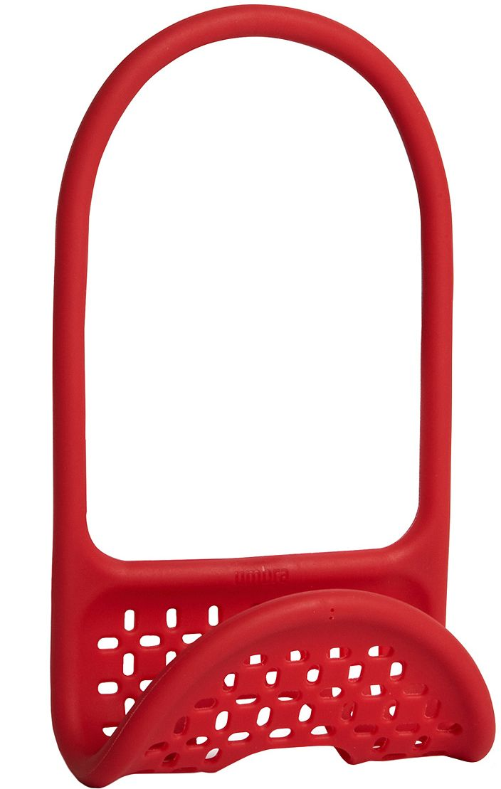 Органайзер для раковины Umbra Sling, цвет: красныйВетерок 2ГФУникальный органайзер для раковины из металлической проволоки с пластиковым покрытием. Ручка удобно гнётся и позволяет вешать органайзер на водопроводный кран или боковую сторону раковины.Подходит для хранения губок, щёток и прочих приспособлений для чистки и мытья. Перфорация даёт воздуху свободно циркулировать, поэтому губки и щётки будут сохнуть быстрее. Дизайнеры Eugenie de Loynes и Jordan Murphy