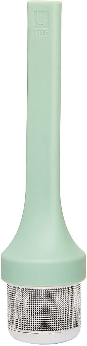 Емкость для заваривания Umbra Mytea, цвет: мятный115510Удобная емкость для заваривания чая. Ситечко изготовлено из нержавеющей стали, рукоятка — из гибкого силикона.Design: Eugenie De Loynes