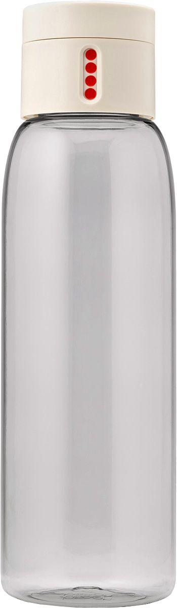Бутылка для воды Joseph Joseph Dot, 600 мл, цвет: белыйVT-1520(SR)Уникальная бутылка, которая поможет вам контролировать ежедневное потребление воды. Инновационная крышка со счетчиком запомнит каждое наполнение бутылки в течение дня. Просто закрутите крышку до появления точки, а для питья используйте верхнюю крышку. Новая точка появится каждый раз, когда бутылка заново заполнена и крышка закручена. Из гладкого литого носика бутылки удобно пить, а широкое горлышко идеально для насыпания льда и мытья. Герметичная крышка надежно защитит содержимое от вытекания. Бутылка изготовлена из экологичного и удапрочного материала Tritan.Объем - 600 мл.