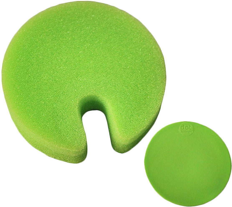 Губка Fabrikators Dot с держателем, цвет: зеленыйDSH-GБлагодаря прочной присоске, держатель с губкой Губка Fabrikators Dot можно зафиксировать в раковине, шкафу или на керамической плитке. Таким образом, у вас под рукой всегда будет готовое к использованию средство. Губки быстро сохнут. Можно мыть в посудомоечной машине.