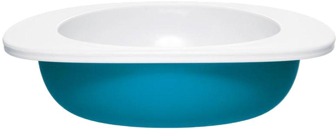 Миска для малыша Fabrikators, цвет: голубой115510Кормление без суеты и мелких неприятностей. Миска для малыша не скользит и надежно держится на поверхности стола благодаря дополнительному весу в нижней части. За счёт удобной формы чаши, из неё удобно есть кашу, суп или йогурт. Посуда не содержит бисфенол-А