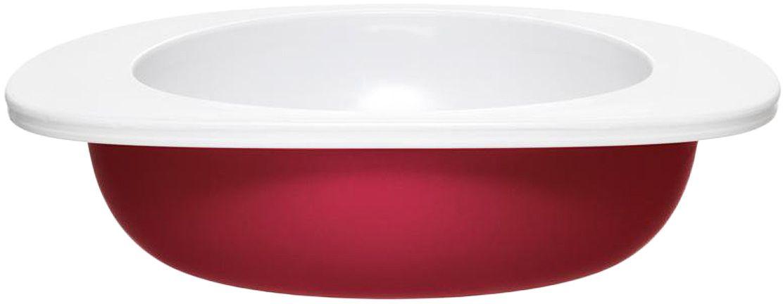 Миска для малыша Fabrikators, цвет: красный115510Кормление без суеты и мелких неприятностей. Миска для малыша не скользит и надежно держится на поверхности стола благодаря дополнительному весу в нижней части. За счёт удобной формы чаши, из неё удобно есть кашу, суп или йогурт. Посуда не содержит бисфенол-А