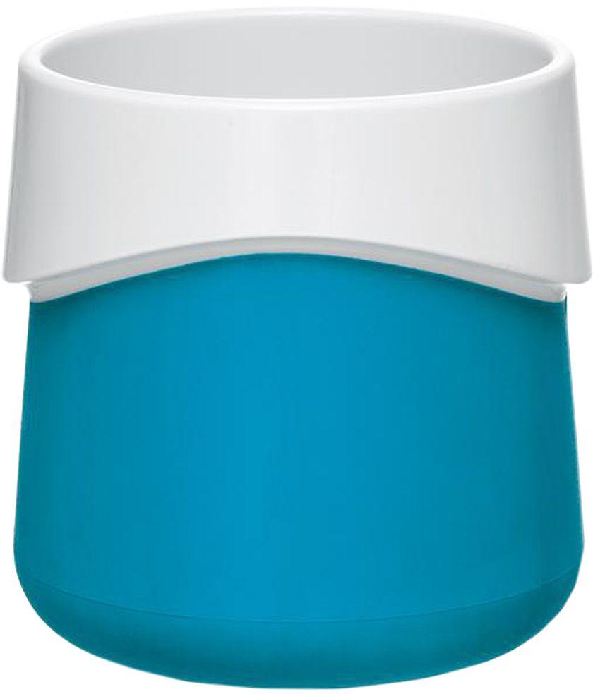 Кружка для малыша Fabrikators, цвет: голубой54 009312Кормление без суеты и мелких неприятностей. Кружка для малыша не скользит и надежно держится на поверхности стола благодаря дополнительному весу в нижней части. Кружку удобно захватывать за специальный ободок вокруг чашки. Посуда не содержит бисфенол-А