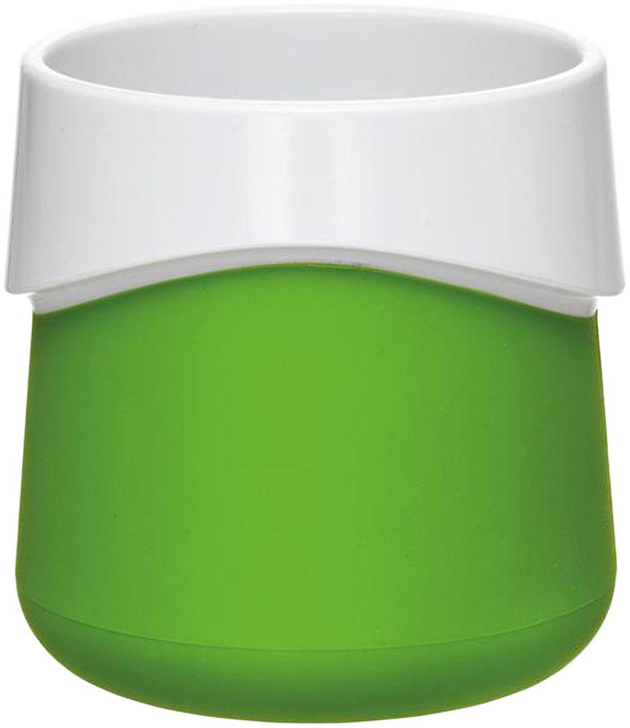 Кружка для малыша Fabrikators, цвет: зеленыйVT-1520(SR)Кормление без суеты и мелких неприятностей. Кружка для малыша не скользит и надежно держится на поверхности стола благодаря дополнительному весу в нижней части. Кружку удобно захватывать за специальный ободок вокруг чашки.