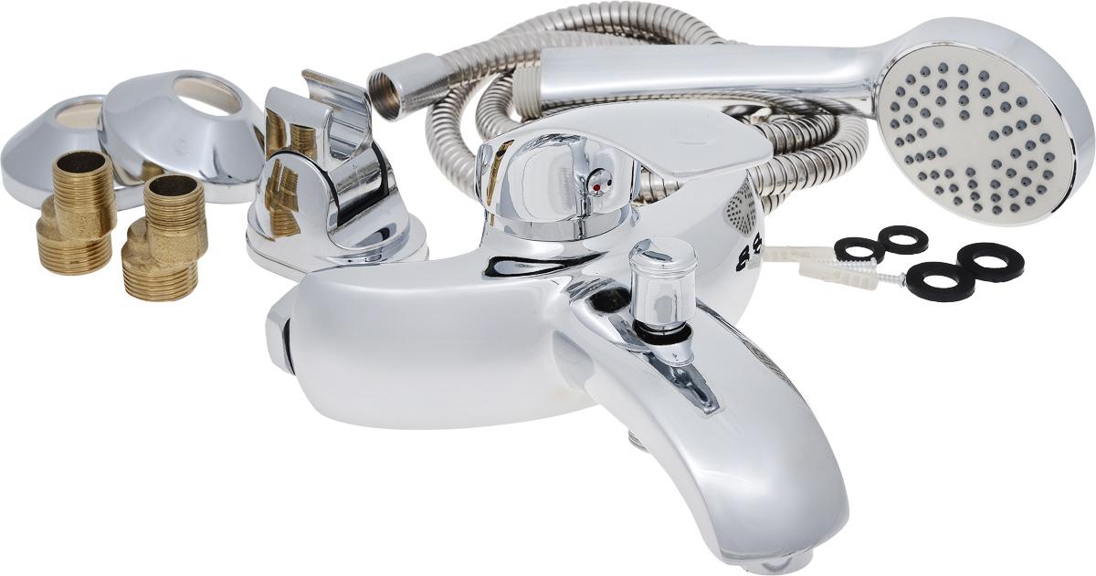 Смеситель для ванны РМС, с коротким литым изливом, цвет: хром. SL40-0093479Смеситель для ванны РМС выполнен из высококачественной латуни с хромированным покрытием. Предназначен для смешивания холодной и горячей воды, устанавливается в ванну. Смеситель имеет штоковый переключатель воды ванна/душ, короткийизлив и пластиковый аэратор. Длина шланга для душа: 1,5 м. Размер лейки для душа: 21 х 8 х 4,5 см.Размер смесителя: 18 х 16 х 11 см.Максимальное давление: 10 бар.Испытательное давление: 16 бар.Рекомендуемое давление: 1-5 бар, при давлении выше 6 бар рекомендуется использовать регулятор давления.Максимально допустимая температура: +80°С.Рекомендуемая температура: +65°С.Размер присоединения к угловому вентилю для умывальника: гайка 1/2.Кран-букса керамическая: 1/2.Размер картриджа: 40 мм.